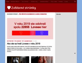 zalubene.sk screenshot