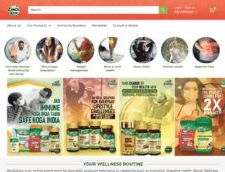zanduayurveda.com screenshot