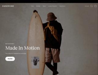 zanerobe.com.au screenshot