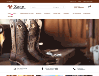 zanewestern.com screenshot