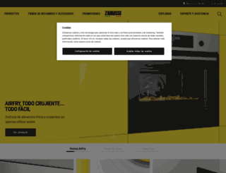 zanussi.es screenshot
