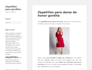 zapatillasparagorditas.com screenshot