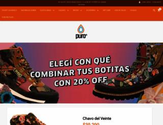 zapatillaspuro.com.ar screenshot