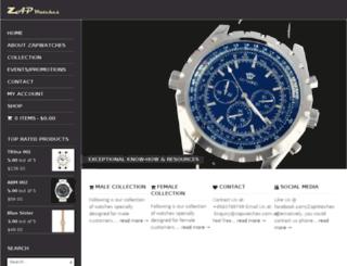 zapwatches.com.sg screenshot