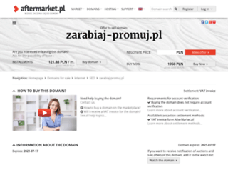 zarabiaj-promuj.pl screenshot