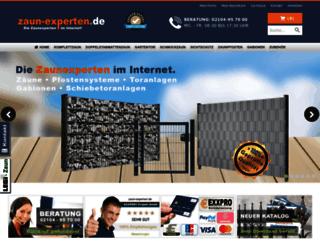 zaun-experten.de screenshot
