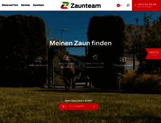 zaunteam.de screenshot