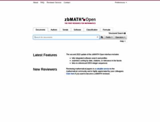 zbmath.org screenshot