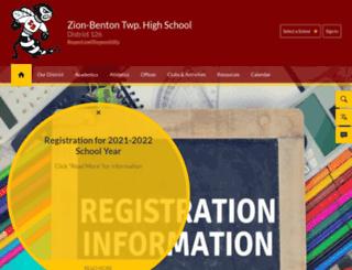 zbths.schoolwires.net screenshot