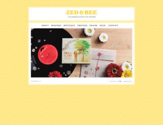 zedandbee.com.au screenshot