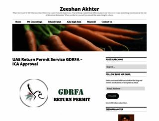 zeeshanakhter.com screenshot