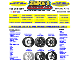 zekescustomwheels.com screenshot