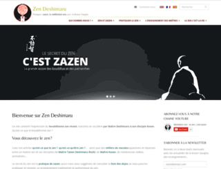 zen-deshimaru.com screenshot