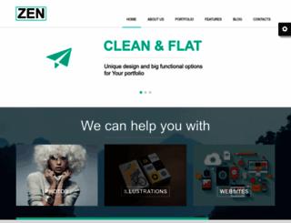 zenhtml.themerex.net screenshot