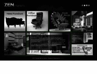 zeninteriorsbh.com screenshot