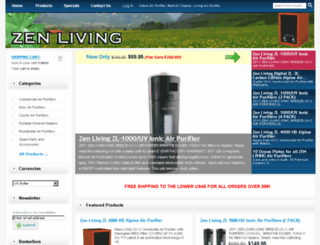 zenlivingair.com screenshot