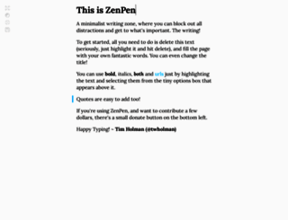 zenpen.io screenshot