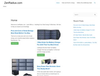 zenradius.com screenshot