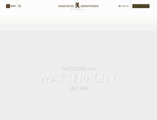 zermatterhof.ch screenshot
