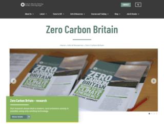 zerocarbonbritain.org screenshot