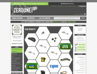 zerooneairsoft.com screenshot