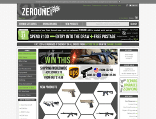 zerooneairsoft.net screenshot