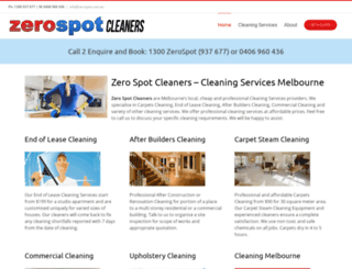 zerospot.com.au screenshot