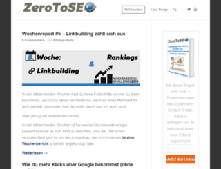 zerotoseo.net screenshot
