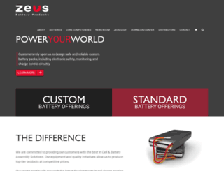 zeusbatteryproducts.com screenshot