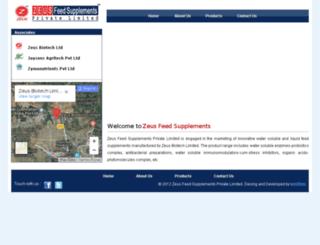 zeusfeedsupplements.net screenshot
