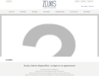 zeuxis.adveris.fr screenshot