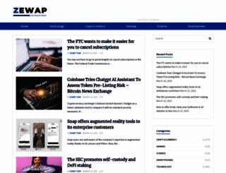 zewap.com screenshot