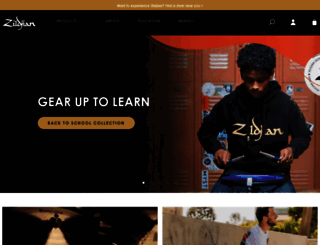 zildjian.com screenshot