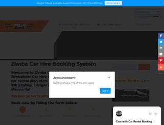 zimbacarhire.com screenshot