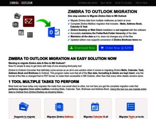 zimbratooutlook.com screenshot