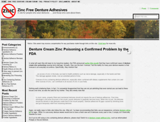zincfreedentureadhesives.com screenshot