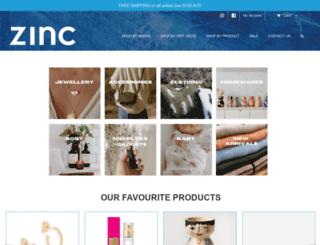 zincshop.com.au screenshot