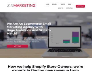 zinmarketing.com screenshot