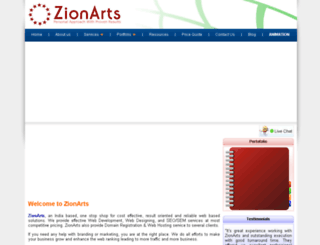 zionarts.biz screenshot