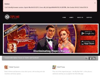 ziplinegames.com screenshot