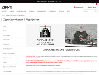 zippocasemuseum.com screenshot