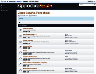 zippoclubspain.com screenshot