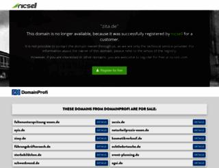 zita.de screenshot