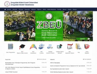 zmyo.beun.edu.tr screenshot
