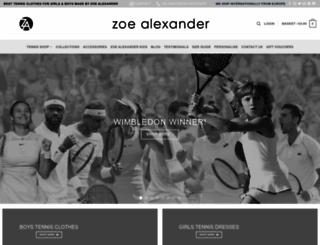 zoealexanderuk.com screenshot