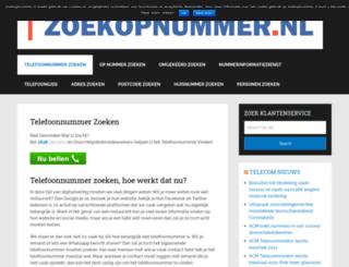 zoekopnummer.nl screenshot