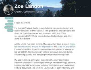 zoelandon.com screenshot