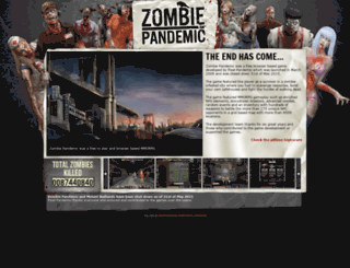 zombiepandemic.com screenshot