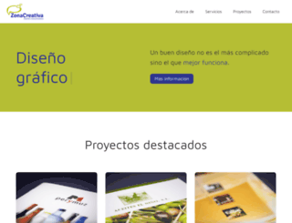 zonacreativa.com screenshot