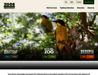 zoo.org.au screenshot